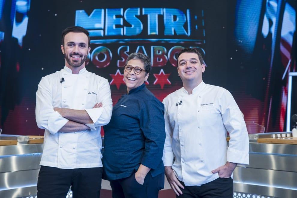 """Os chefs do """"Mestre do Sabor"""": Leo Paixão, Katia Barbosa e Rafa Costa e Silva"""