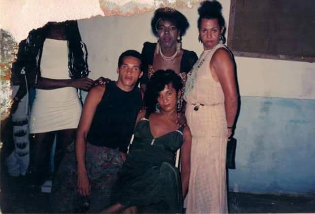 Imagem antiga mostra um encontro entre Jovanna Baby, Elza Lobão, Beatriz Senegal, Monique Du Bavieur e Claudia Pierry France.