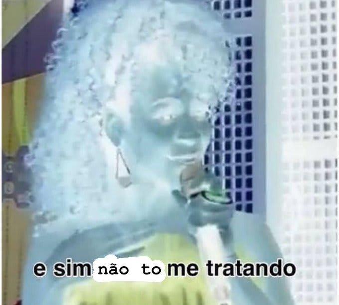 """Imagem da Karol Conká dizendo """"sim não tô me tratando"""""""
