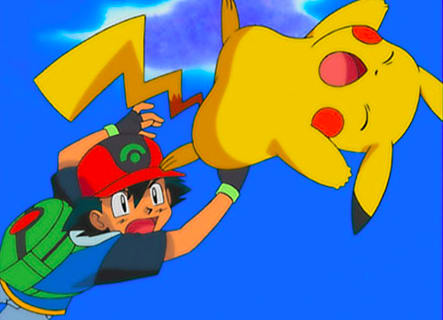 Parece que ash arremessou o pikachu.