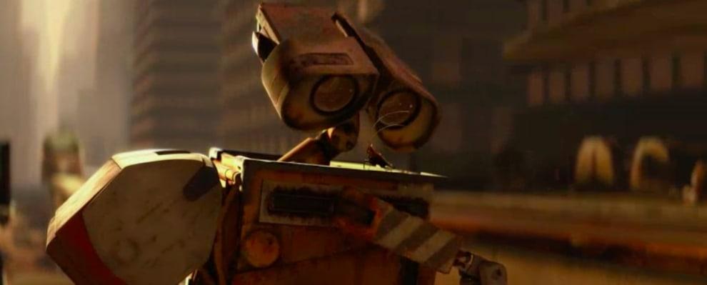Wall-E olhando para sua amiga barata