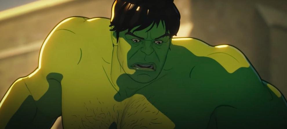 Hulk olhando para baixo, assustado.