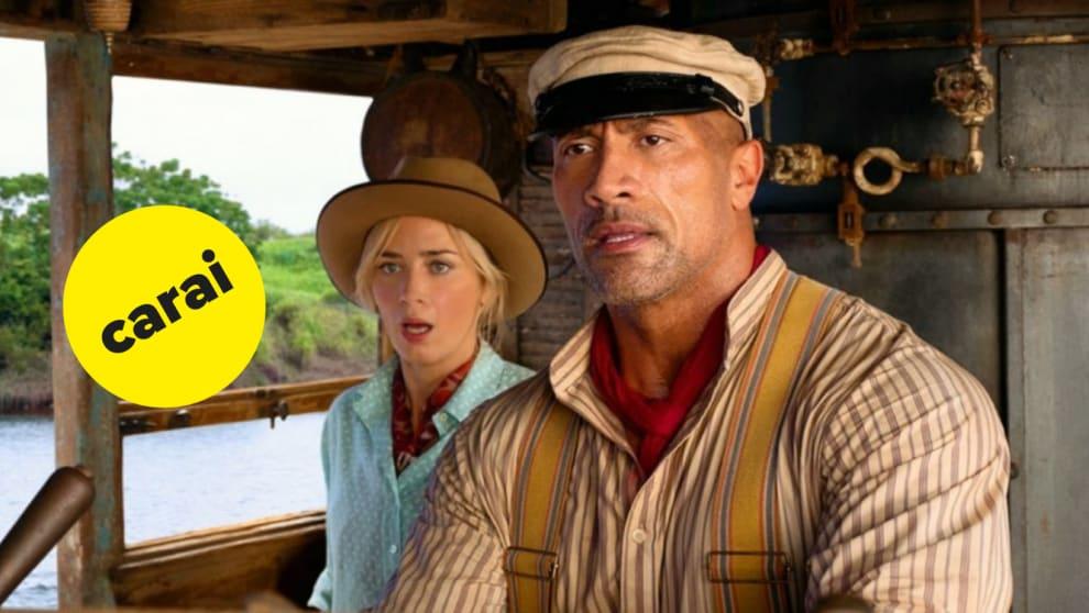 """The Rock e Emily Blunt em """"Jungle Cruise"""""""