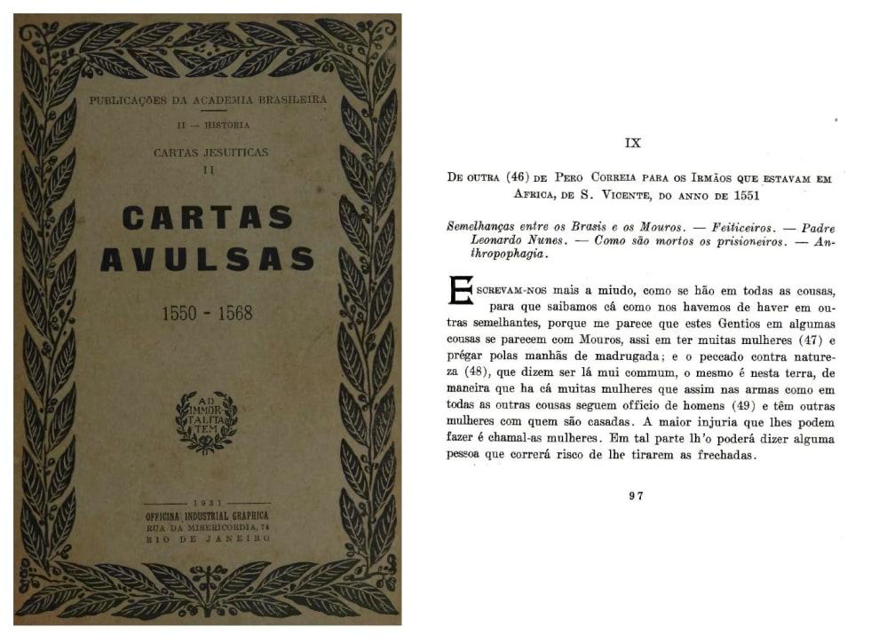 Capa do livro Cartas Avulsas, 1550 - 1568