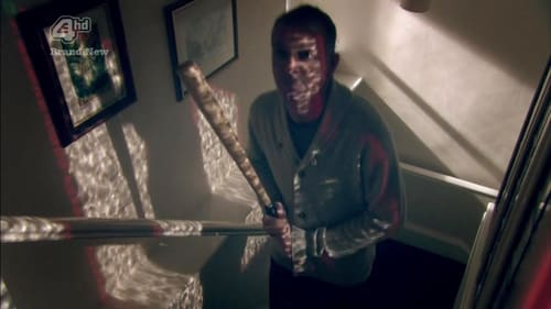 Effy's psychiatrist attacking Freddie with a baseball bat