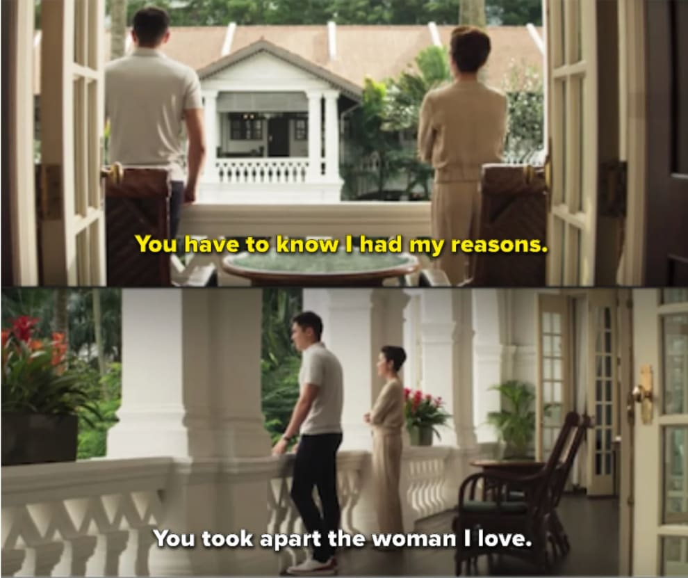 Nick and his mom talking on the balcony