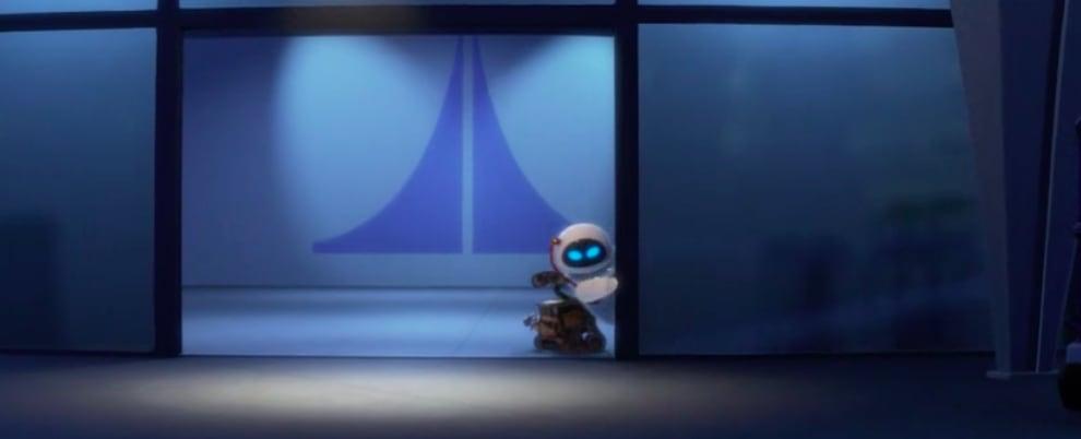 Wall-E e Eva na nave