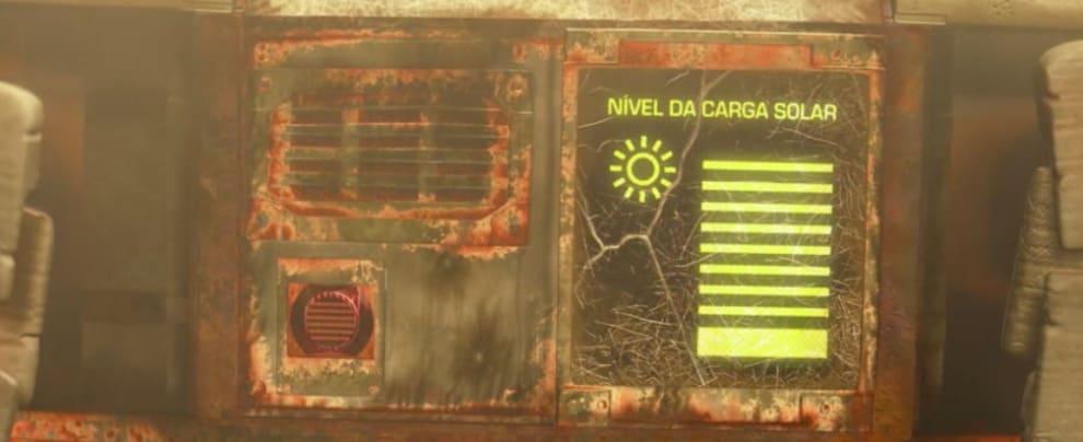 Nível de carga solar de Wall-E completamente cheio