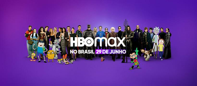 """Personagens de séries da HBO, com o texto """"HBO Max no Brasil 29 de junho"""""""