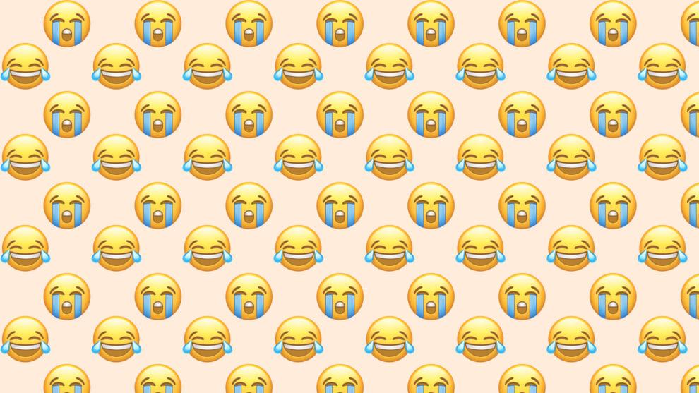 Emojis chorando de rir, e emojis chorando