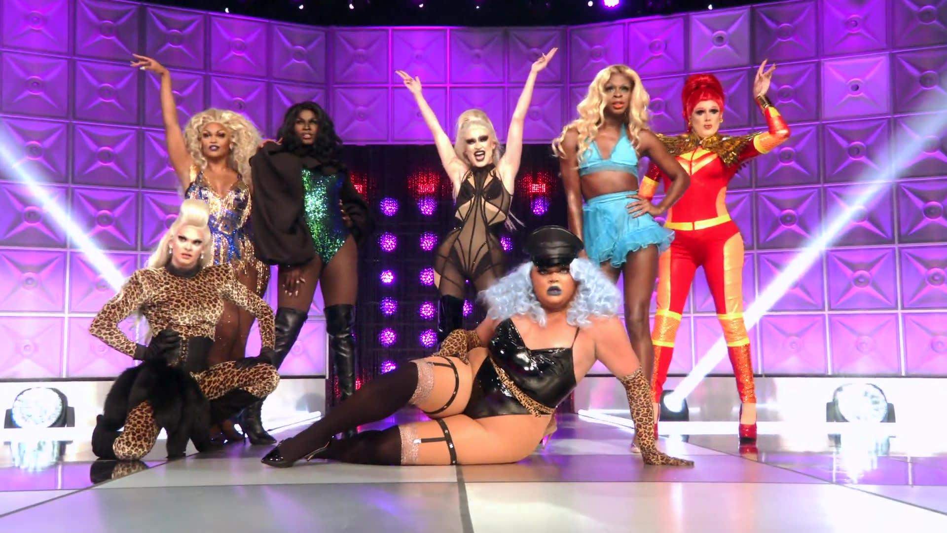 Parte do elenco da mais recente temporada de RuPaul's Drag Race