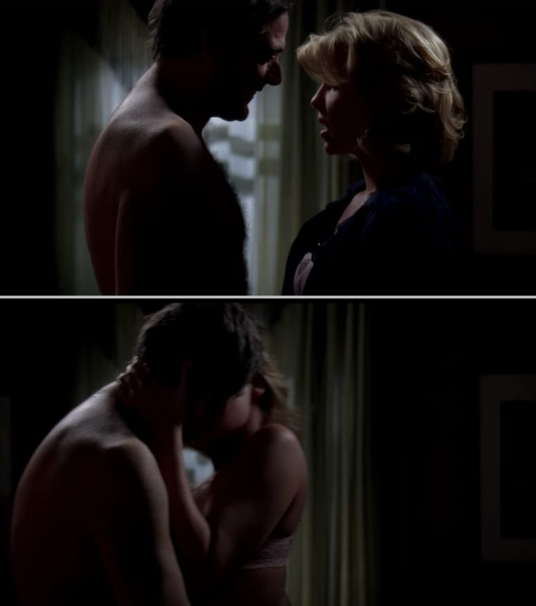 Izzie and Denny making out, even though Denny is a literal ghost?????