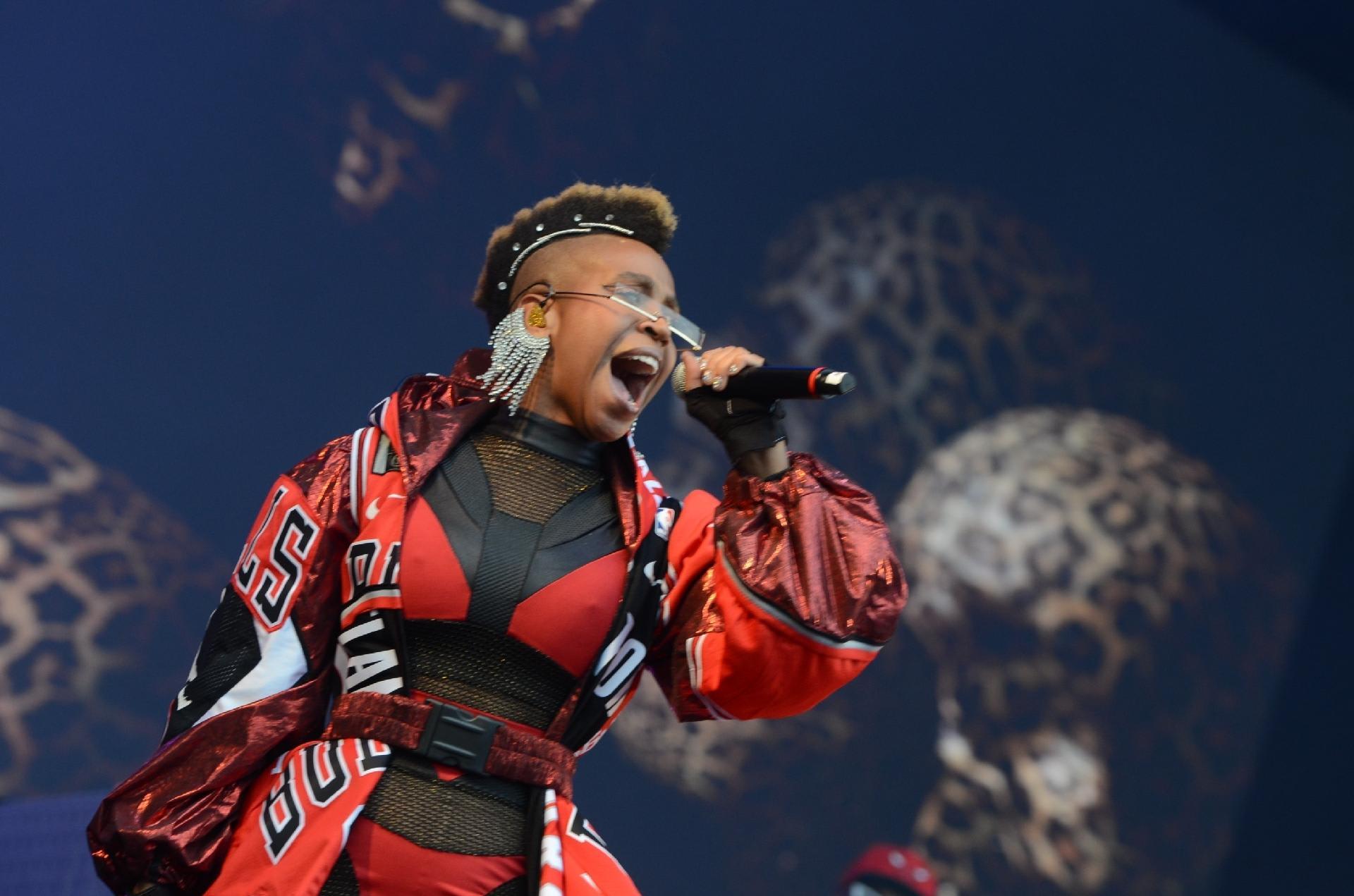 Karol Conka canta no Rock In Rio, em 2019