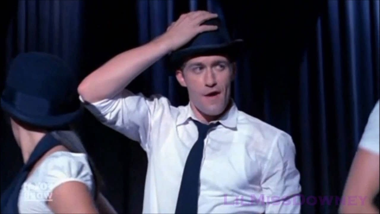 Mr. Schue dancing sexily to 'Toxic'