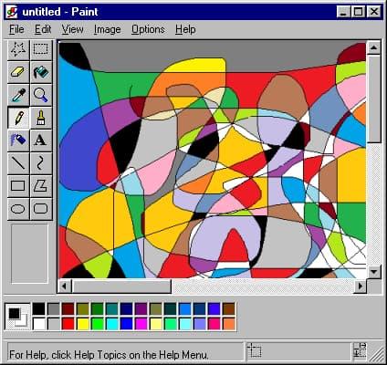 captura de tela do microsoft paint