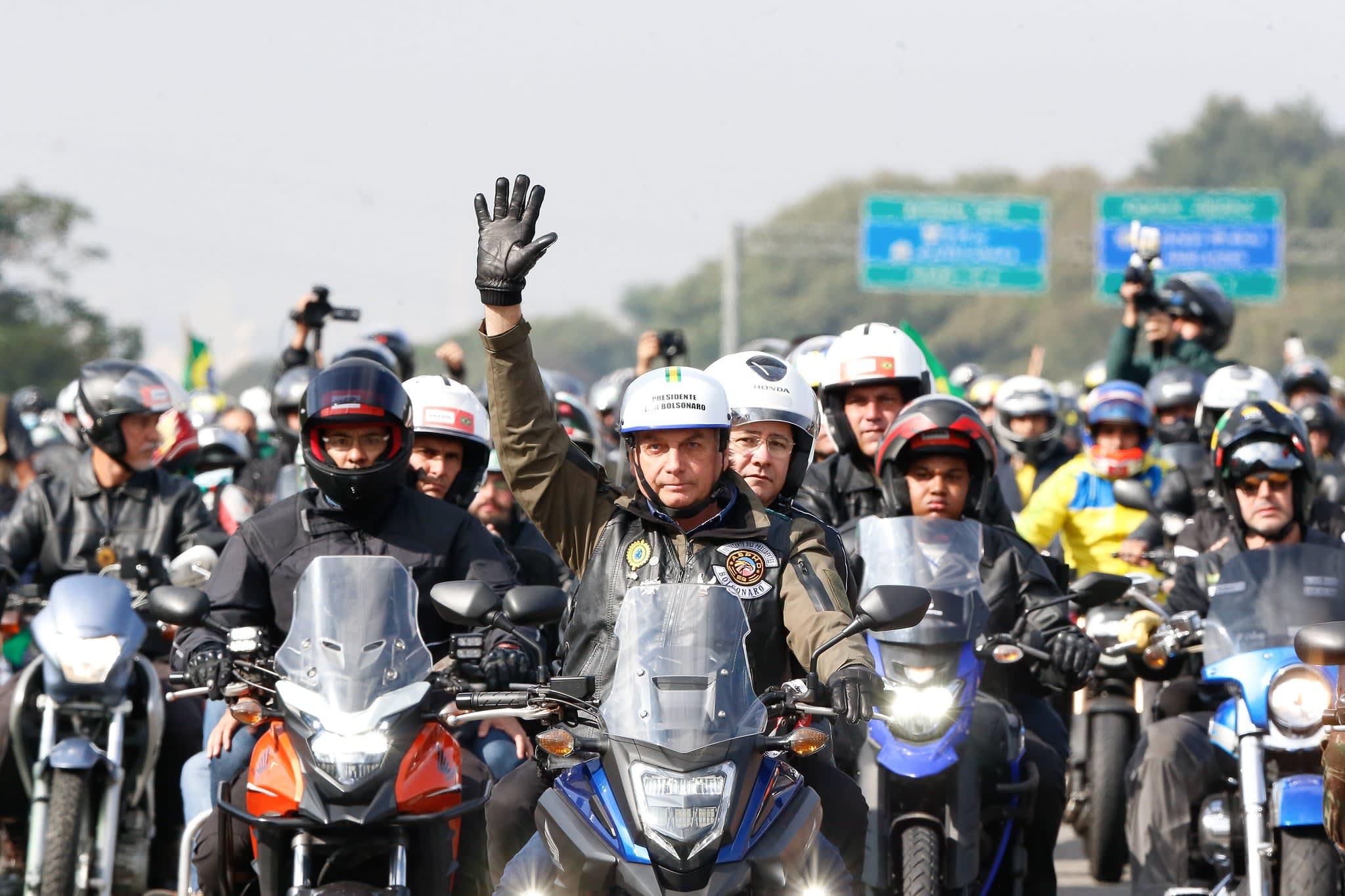 Bolsonaro na passeata