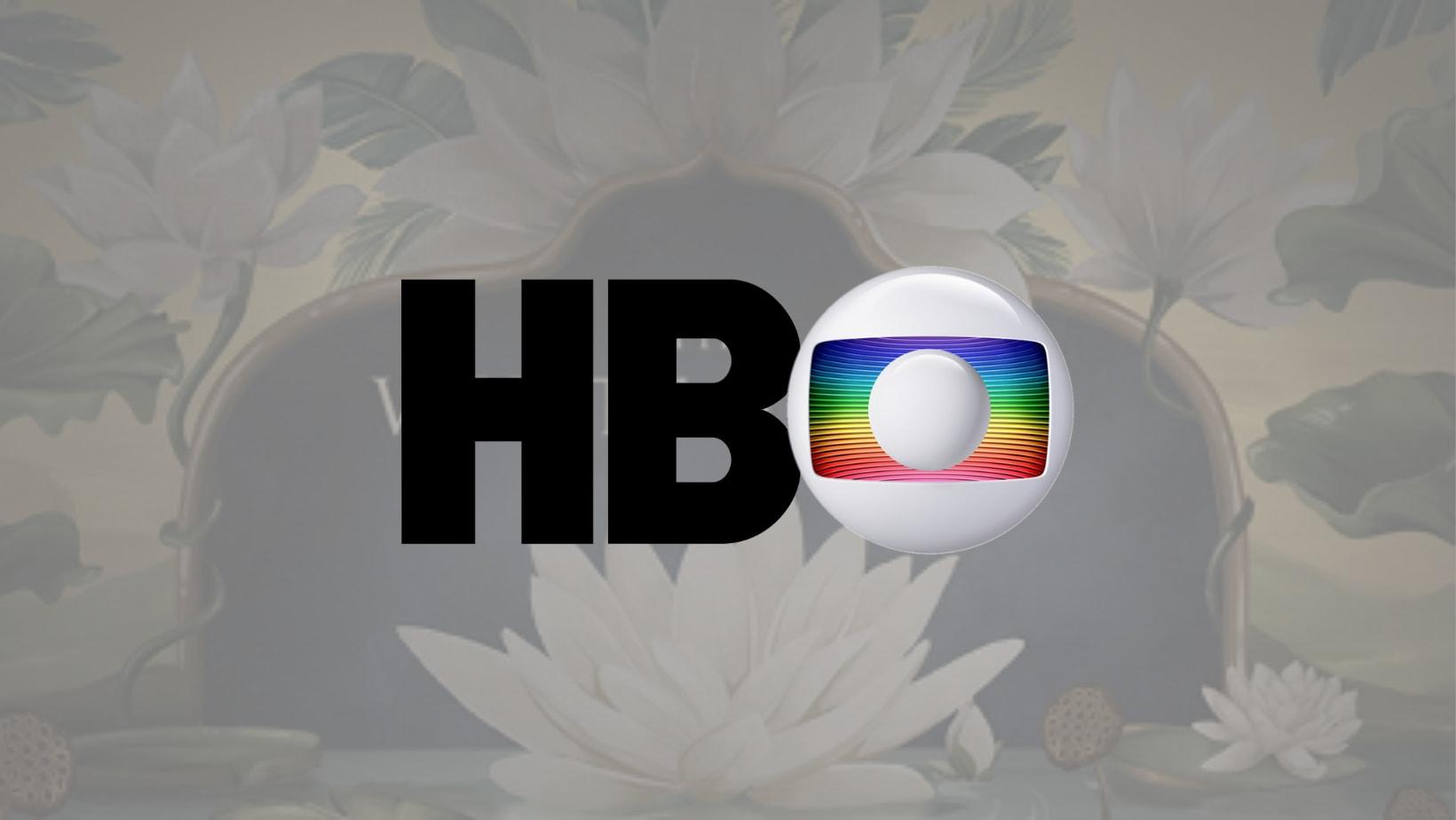 """Logo da HBO, mas o """"O"""" é o logo da Globo."""