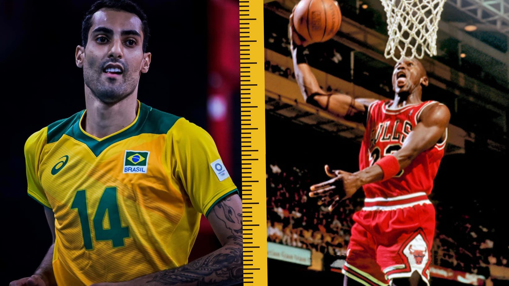 Douglas Souza  e Michael Jordan