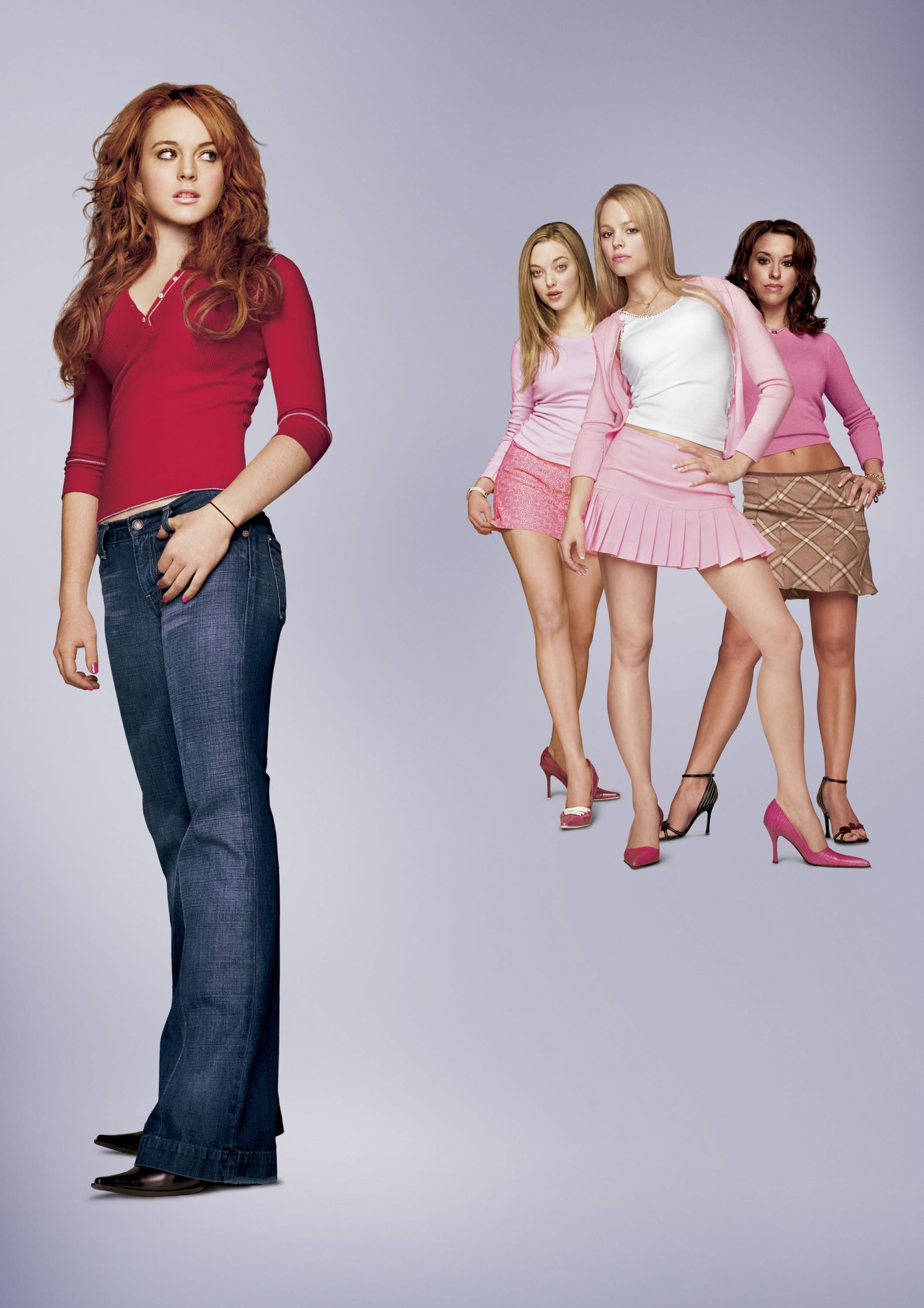 Mean Girls poster with the plastics and Cady