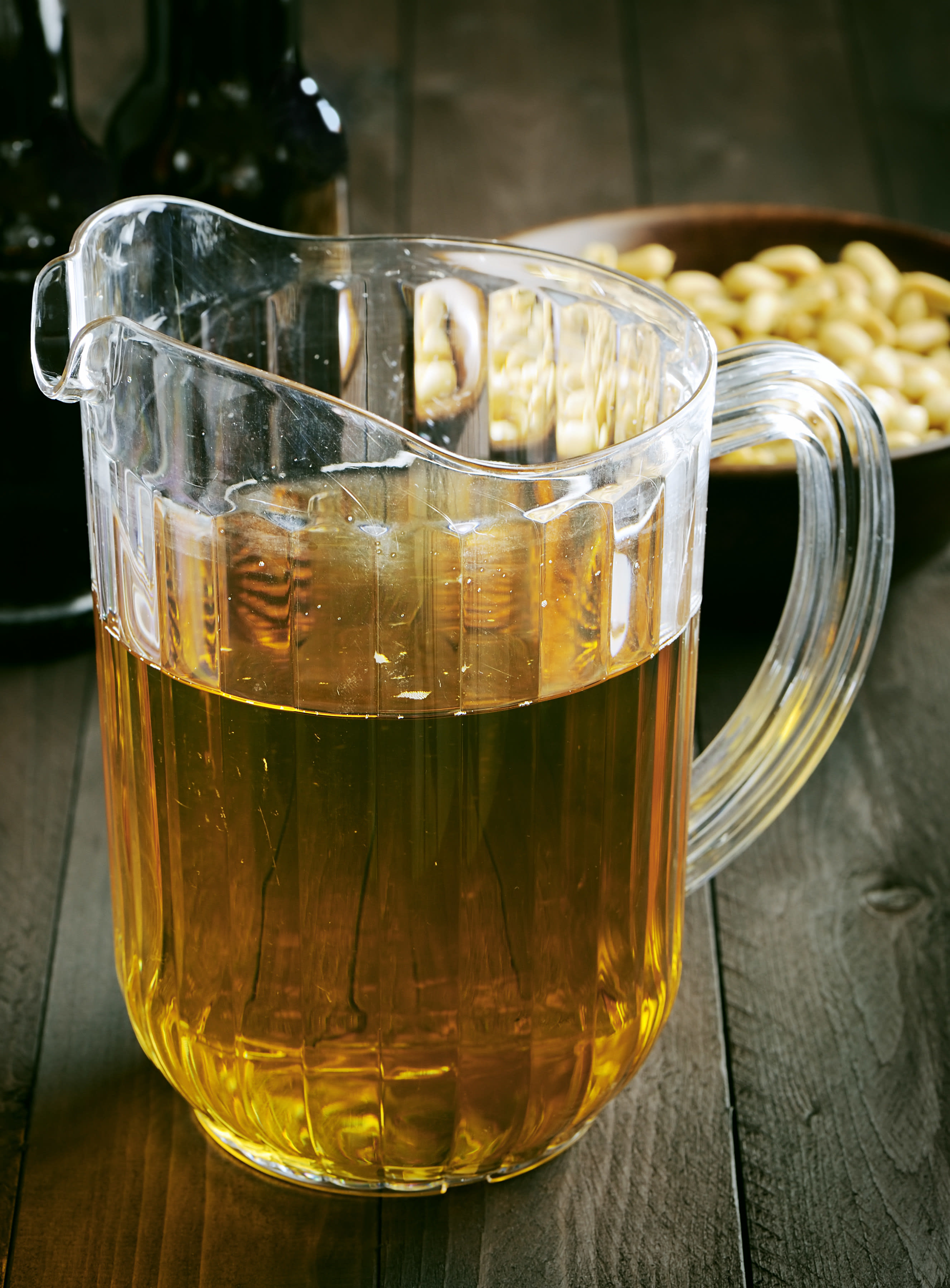 A stock image of a pitcher of beer