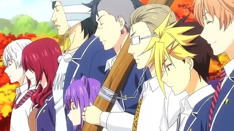 The Elite 10 students from the anime Food Wars