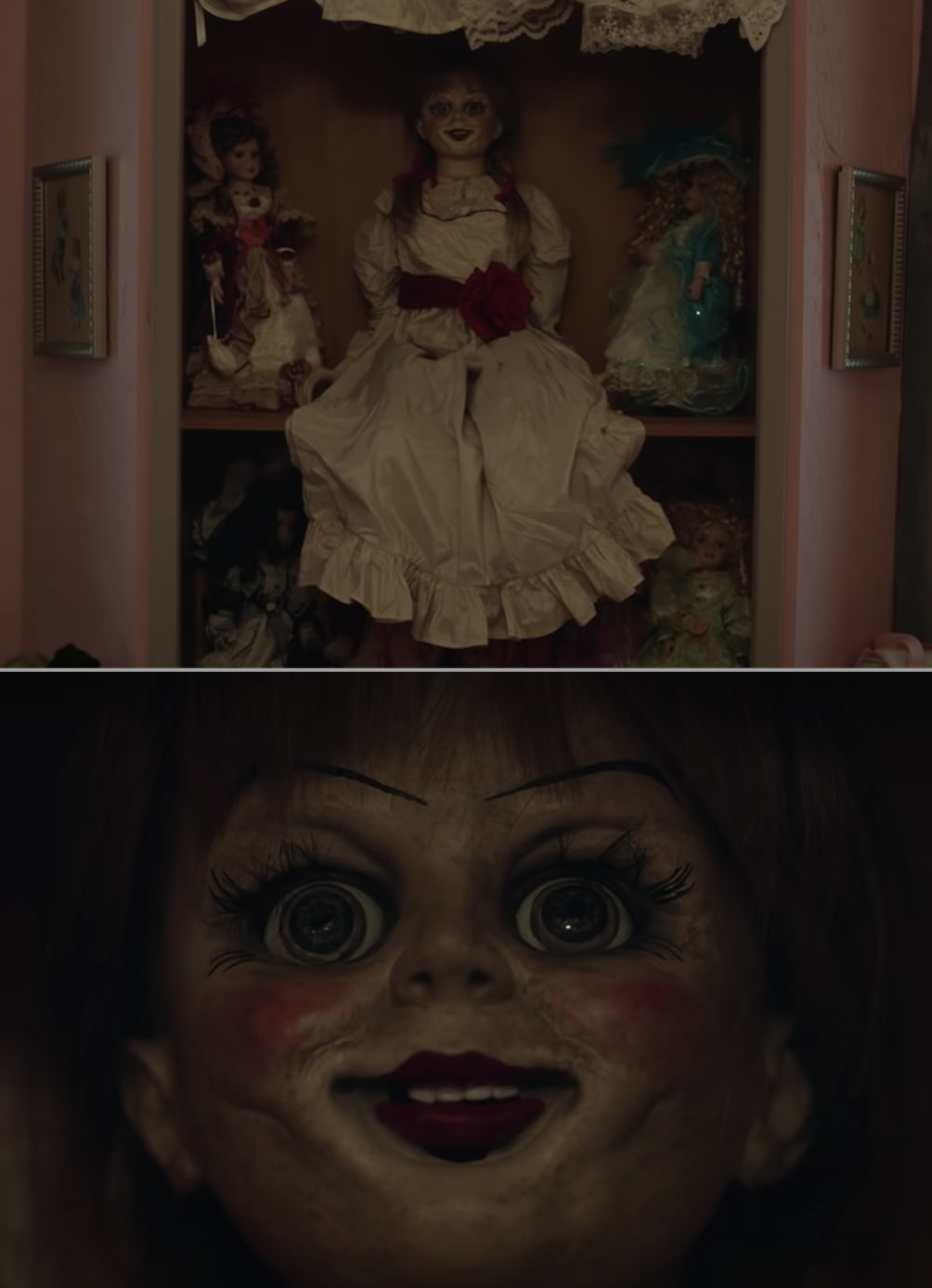 Annabelle, the doll, in the movie