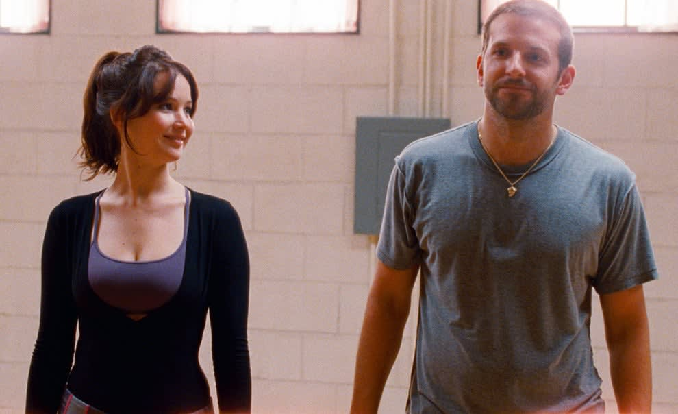 Tiffany smiling at Pat in the dance studio