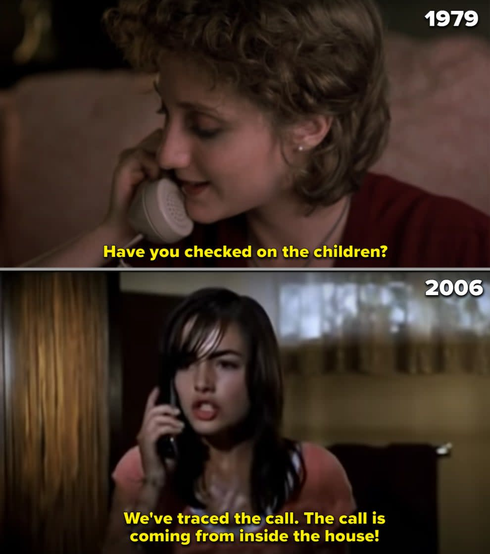 """Side-by-sides of the babysitters in both """"When a Stranger Calls"""" remakes"""