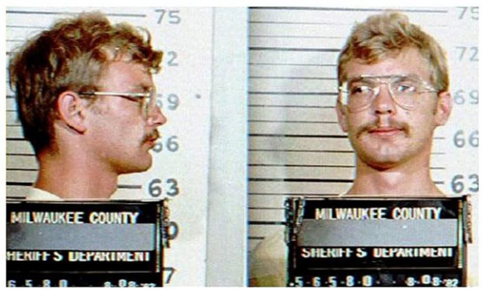 A mugshot of Jeffrey Dahmer