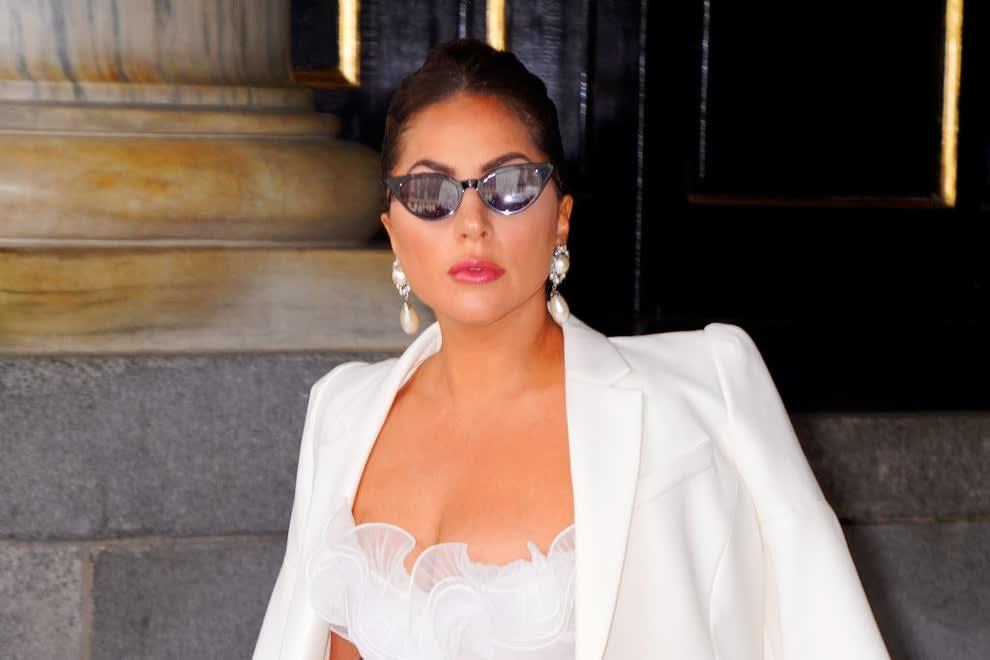 Lady Gaga leaving hotel