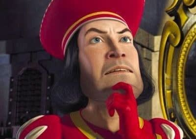 """Lord Farquaad, de """"Shrek"""""""