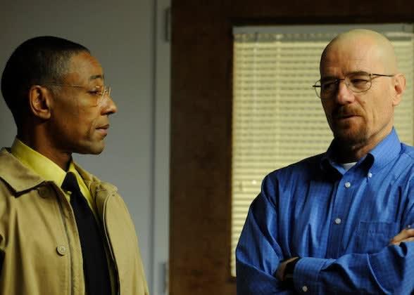 Gus and Walt talking
