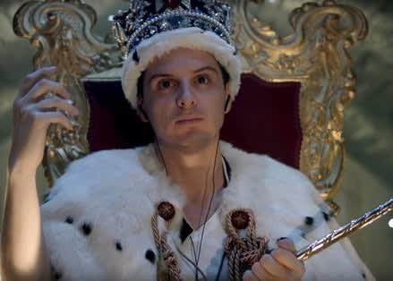 Andrew as Moriarty in Sherlock