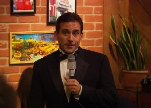 Michael hosting The Dundies