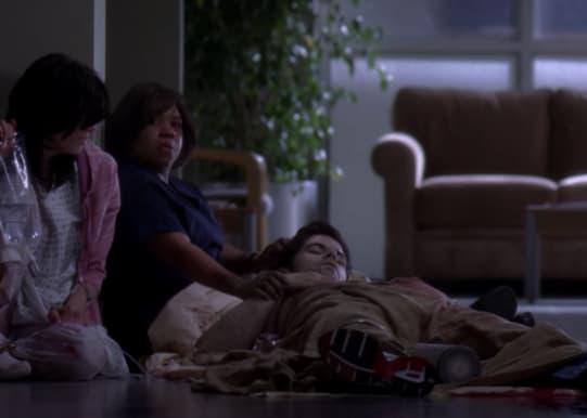 Bailey comforting Charles before he dies
