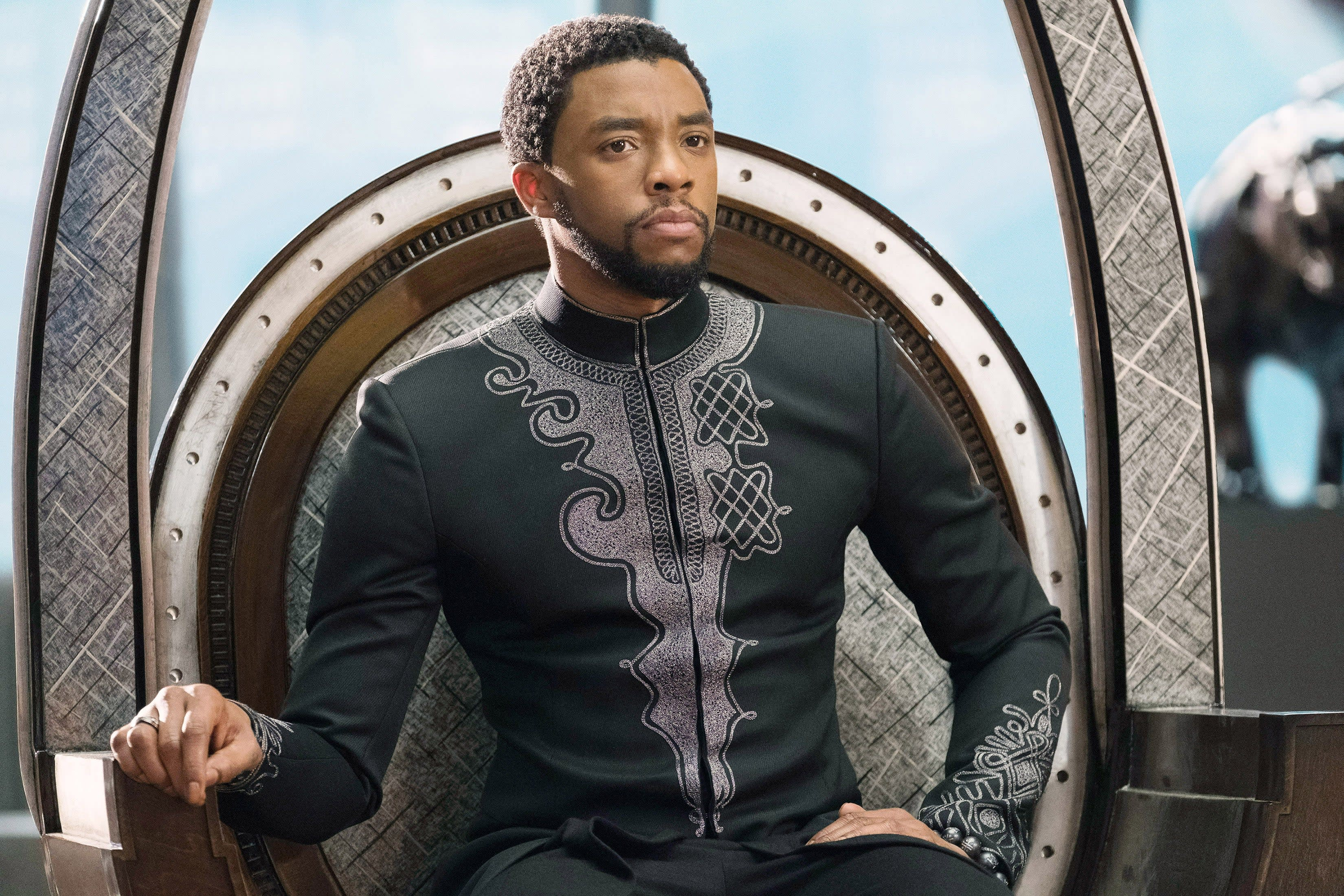 "Chadwick Boseman as T'Challa in ""Black Panther"""