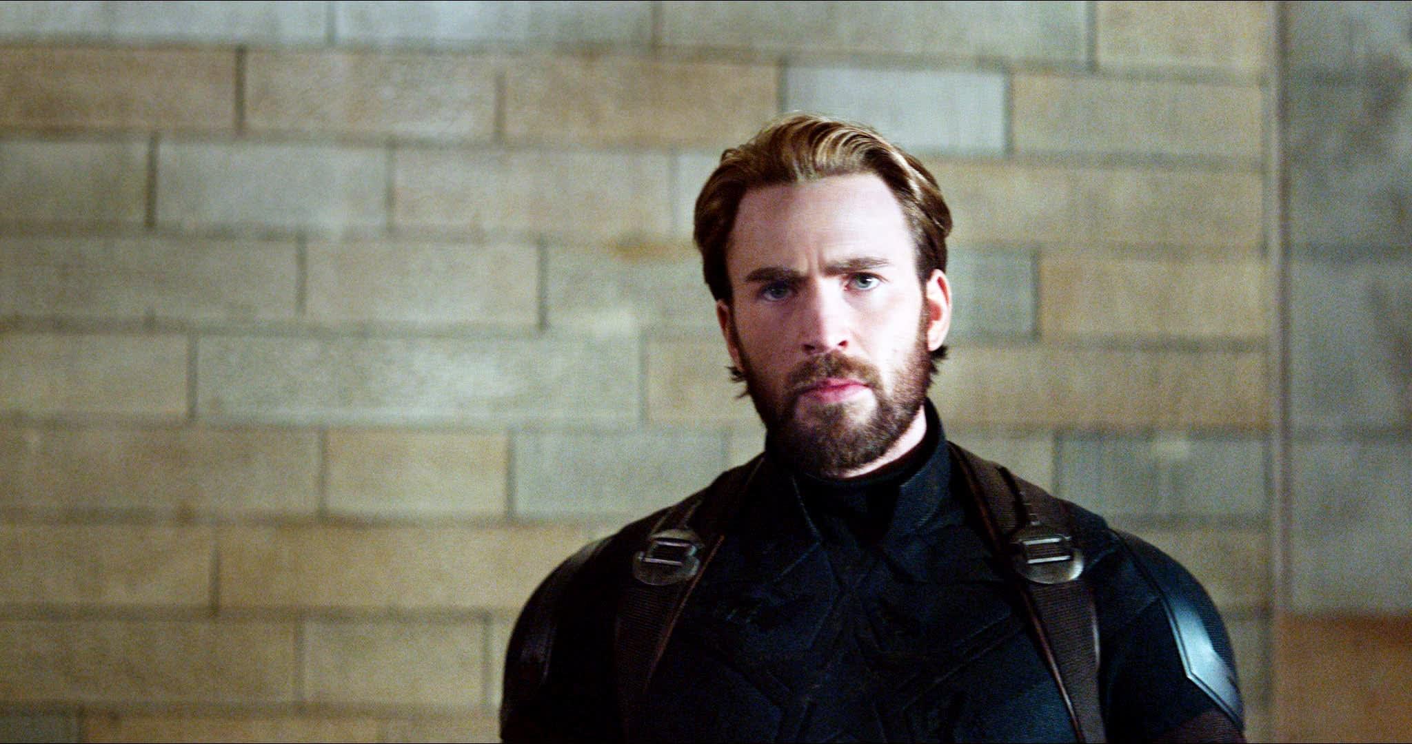 "Chris Evans as Steve Rogers in ""Avengers: Infinity War"""