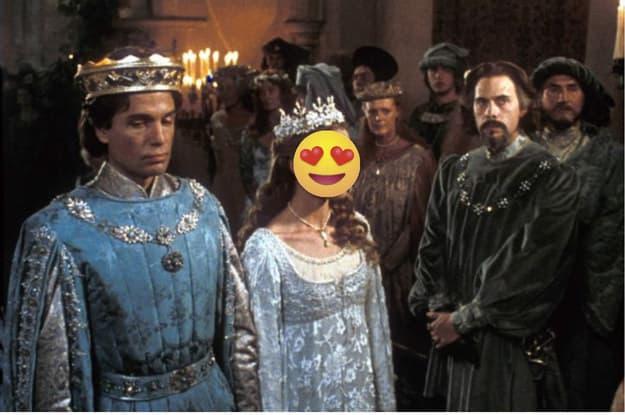Cena de um casamento na Idade Média.