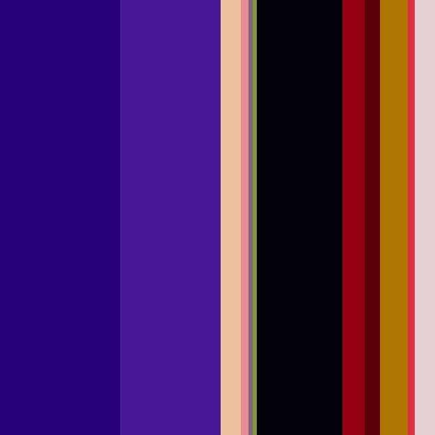 Imagem de uma paleta com as cores roxo, preto e vermelho.
