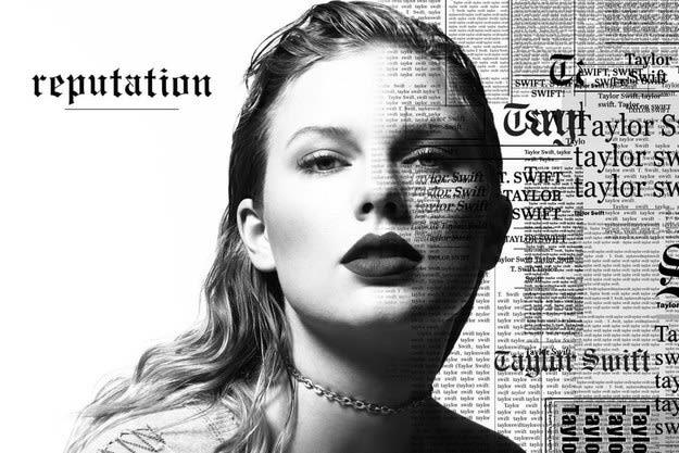 The album art of taylor swift's reputation