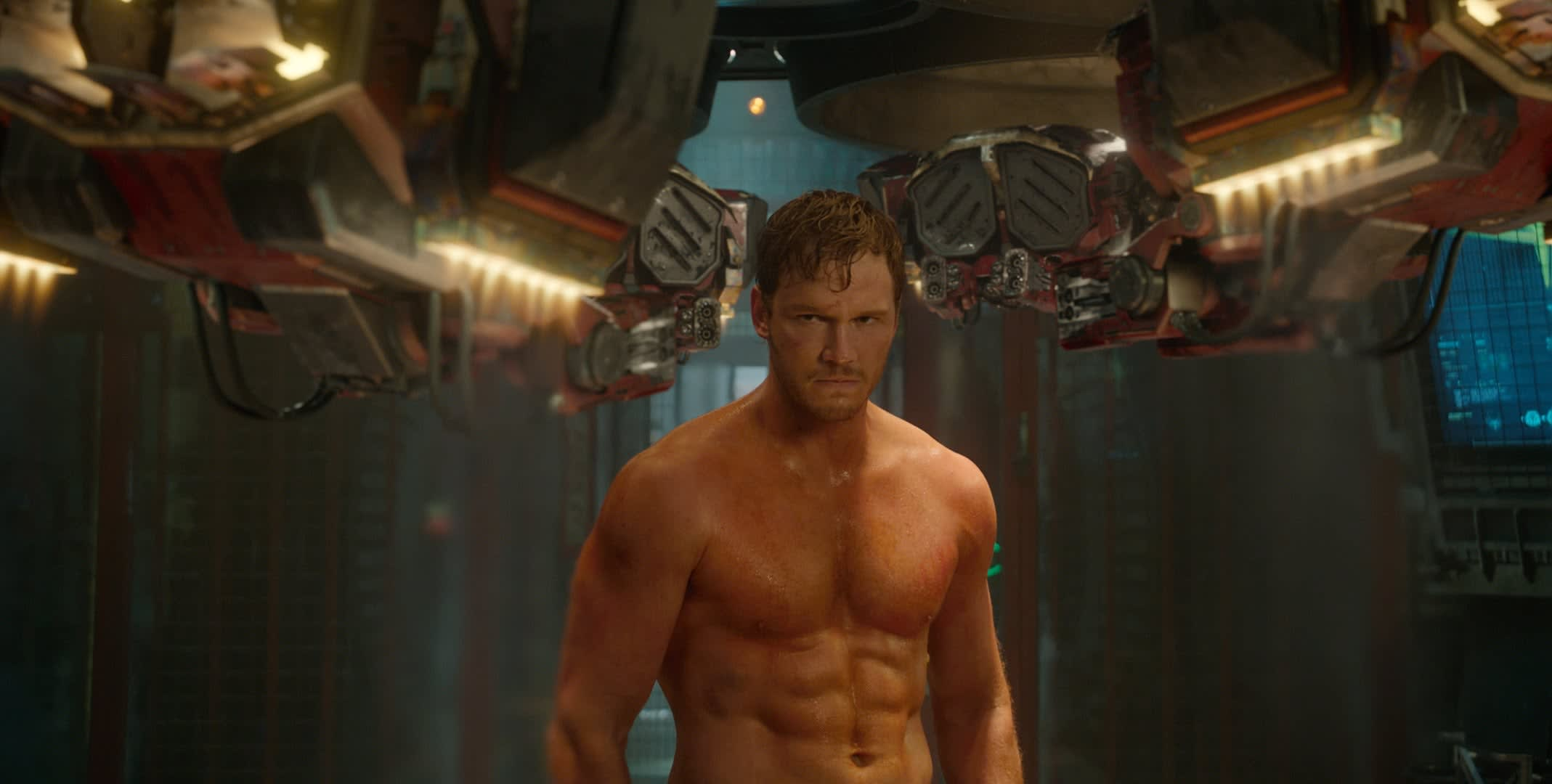 """Chris Pratt as Peter Quill in """"Guardians of the Galazy"""""""