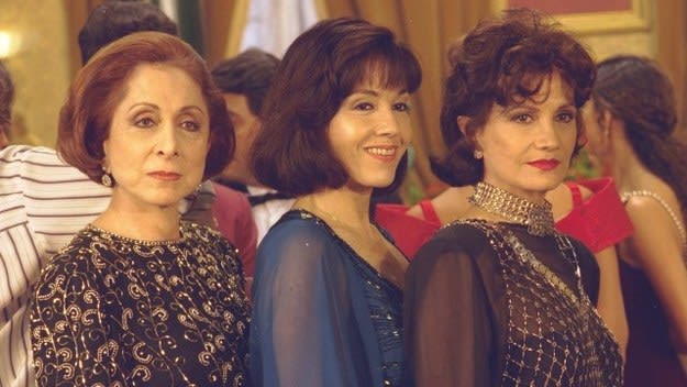 Imagem das atrizes Aracy Balabanian, Yoná Magalhães e Rosamaria Murtinho.