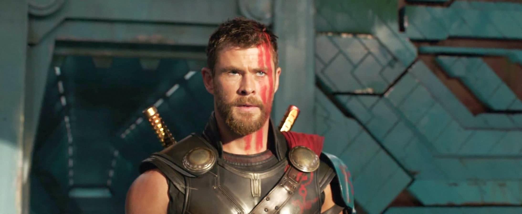 "Chris Hemsworth as Thor in ""Thor: Ragnarok"""