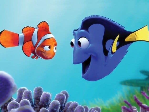 """Imagem de Marlin e Dory, de """"Procurando Nemo""""."""