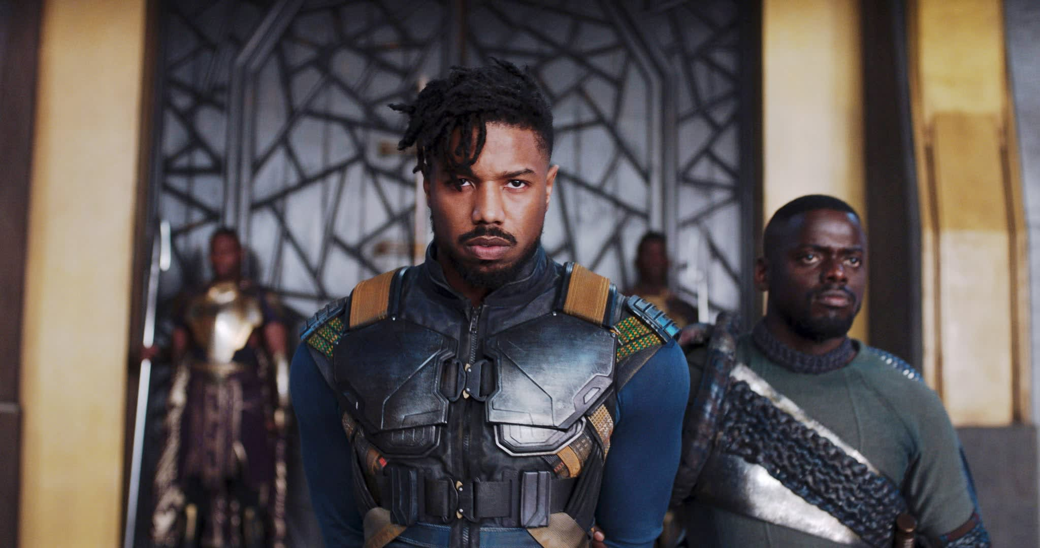 "Michael B. Jordan as Erik Killmonger in ""Black Panther"""
