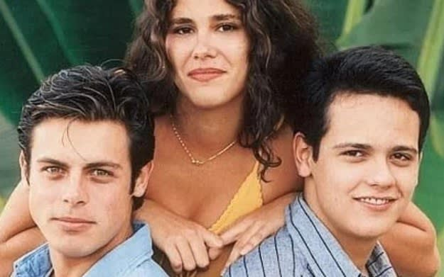 Imagem dos atores Luigi Baricelli, Juliana Martins e Danton Mello.