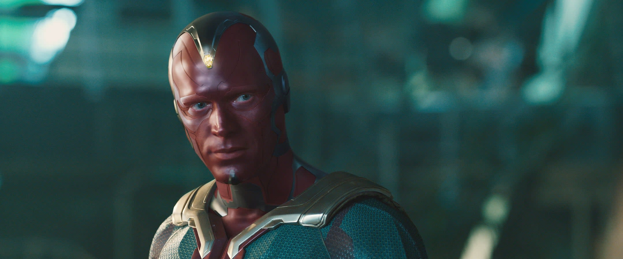"""Paul Bettany as Vision in """"Avengers: Age of Ultron"""""""