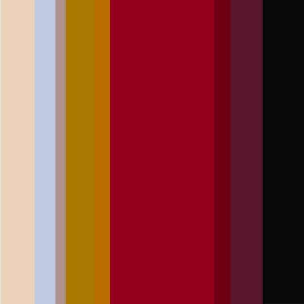 Imagem de uma paleta com as cores bege, vermelho e preto.