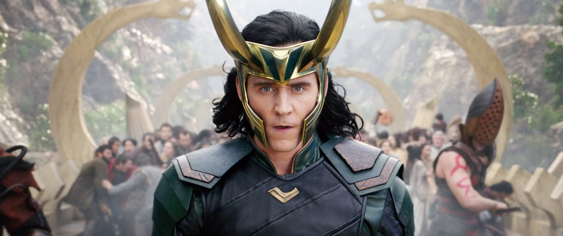 "Tom Hiddleston as Loki in ""Thor Ragnarok"""