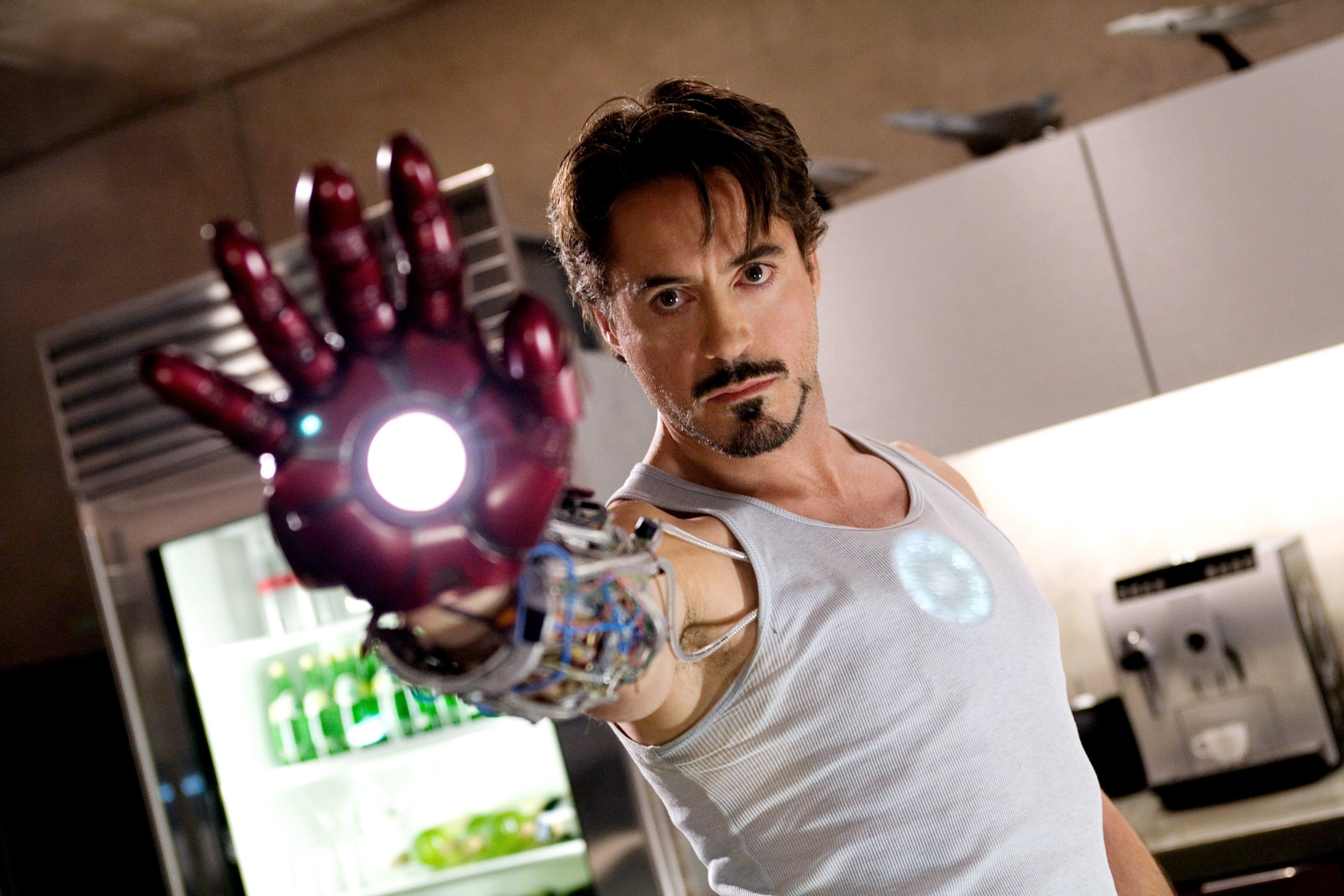 "Robert Downey Jr. as Tony Stark in ""Iron Man"""